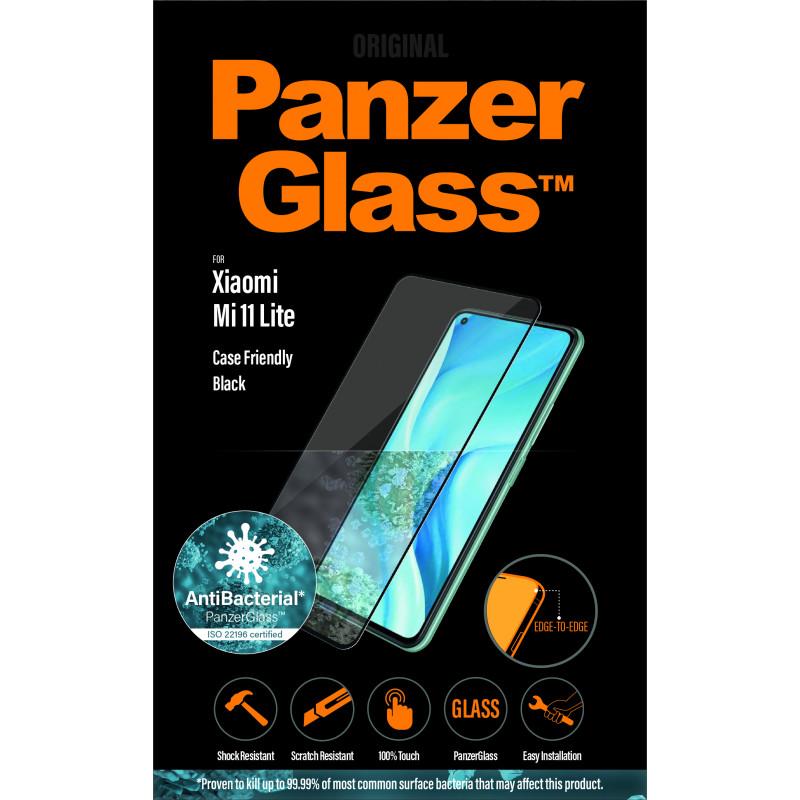 Стъклен протектор Panzer за Xiaomi Mi 11 Lite CaseFriendly - Черен