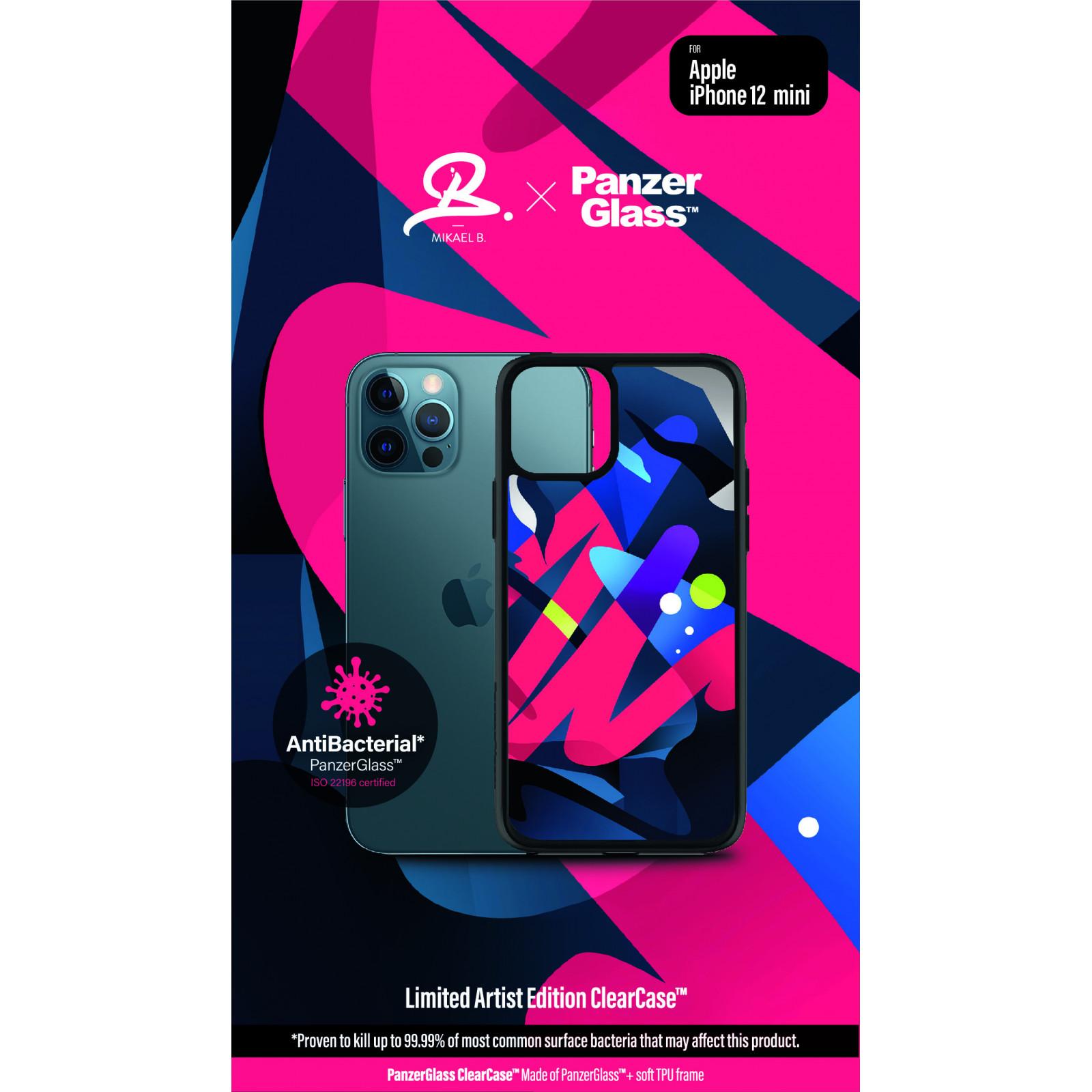 Гръб PanzerGlass Artist Edition ClearCase за Iphone 12 mini - Цветен