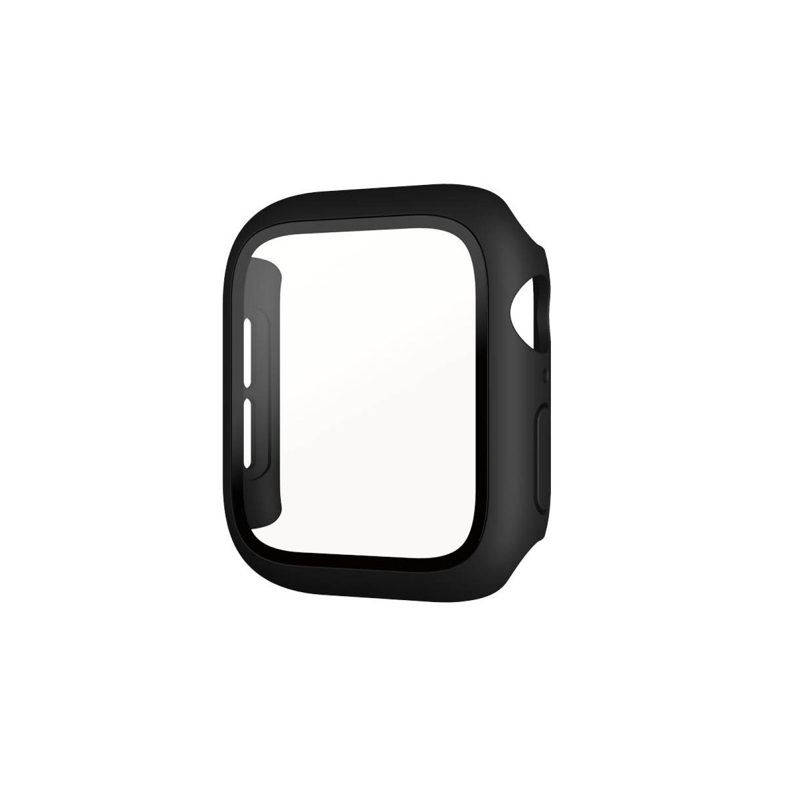 Стъклен протектор със силиконова рамка Apple watch Series 4/5/6/SE 40mm Panzerglass, AntiBacterial- Черна  рамка