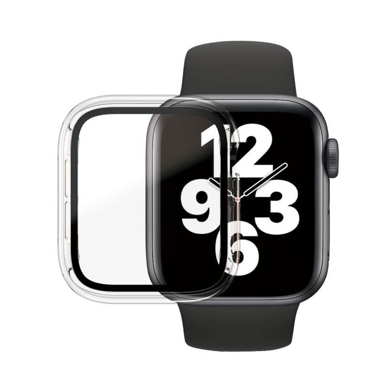 Стъклен протектор със силиконова рамка Apple watch Series 4/5/6/SE 40mm Panzerglass, AntiBacterial - Прозрачна  рамка