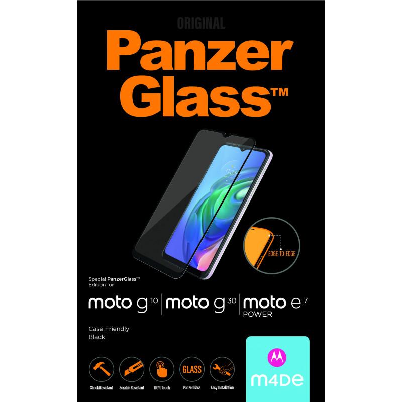 Стъклен протектор PanzerGlass за Motorola Moto G10 / Moto G30/ Moto E7 Power ,CaseFrienfly, Черно