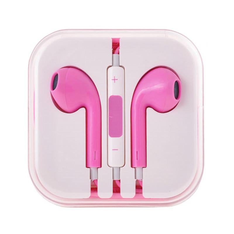 Слушалки MEGA BASS Earphones - Розови, 3.5 мм жак...