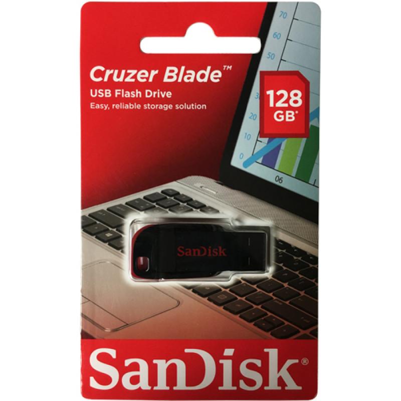 Флашка SanDisk Cruzer Blade 128GB - Черно/Червена