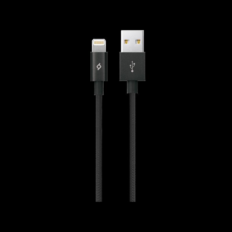 Кабел MFi ttec AlumiCable XL Lightning Charge / Data Cable, 2m - Черен