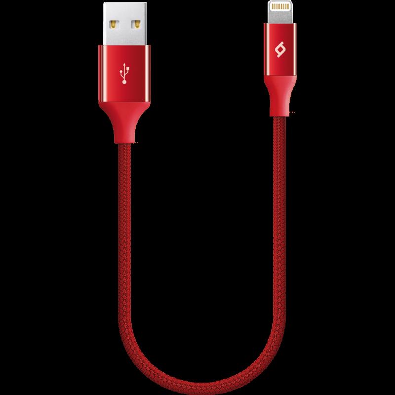 Кабел ttec AlumiCable Ligthning USB Charge / Data Mini Cable , 30cm - Червен