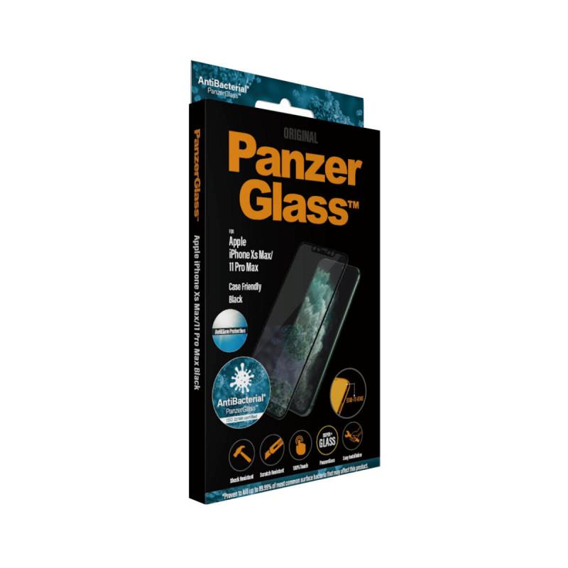 Стъклен протектор PanzerGlass за Apple Iphone Xs Max/11 Pro Max AntiGlare, AntiBacterial CaseFriendly, Black