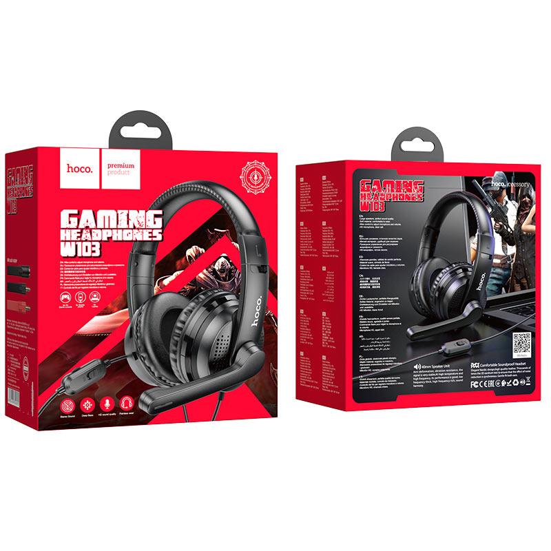 Слушалки W103 Magic tour gaming headphones - Черни...