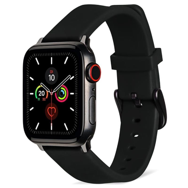 Силиконова каишка за часовник Smart Watch 38/40mm - Черна
