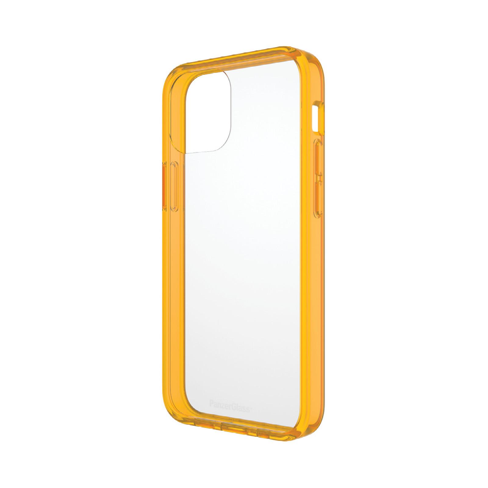 Гръб PanzerGlass за IPhone 13 mini, ClearCase - Оранжева рамка