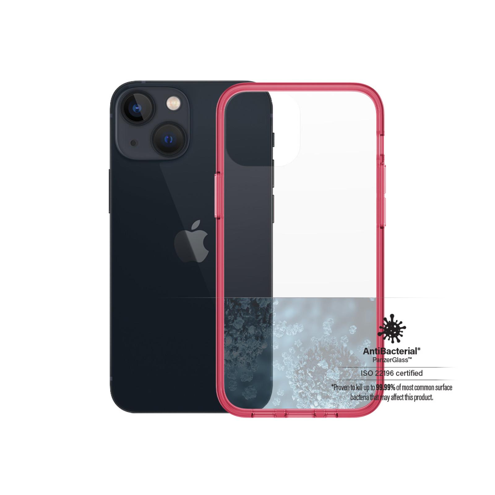 Гръб PanzerGlass за IPhone 13 mini , ClearCase - Червена рамка