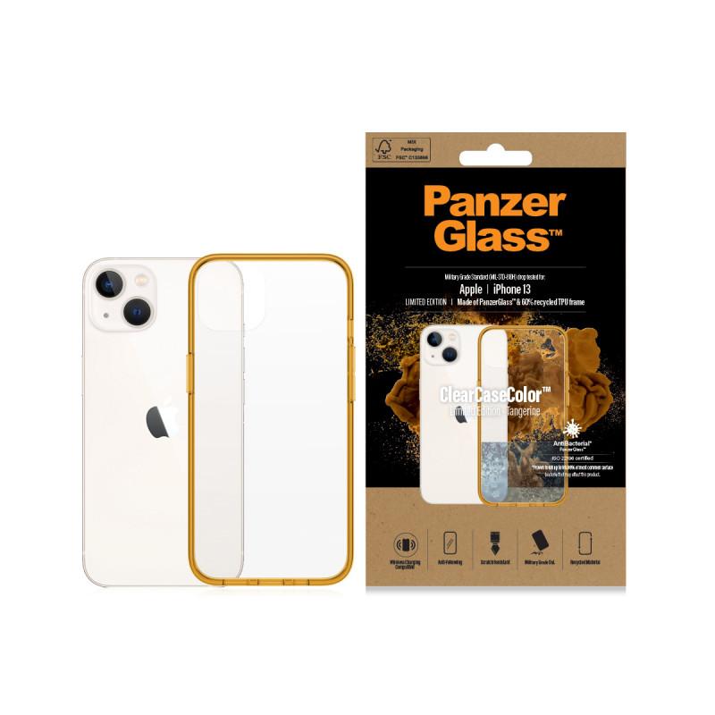 Гръб PanzerGlass за IPhone 13 , ClearCase - Оранже...