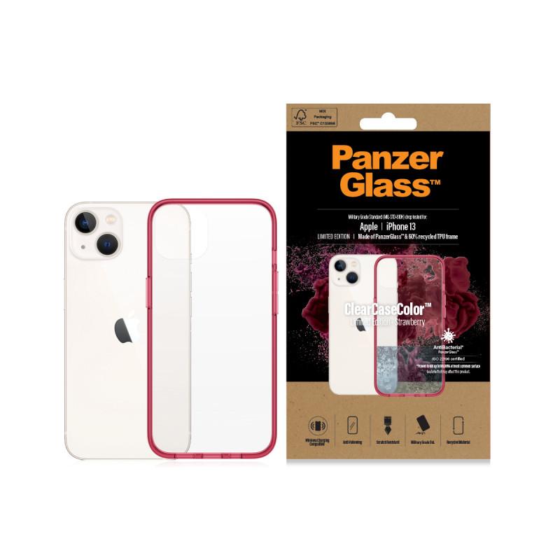 Гръб PanzerGlass за IPhone 13 , ClearCase - Червен...