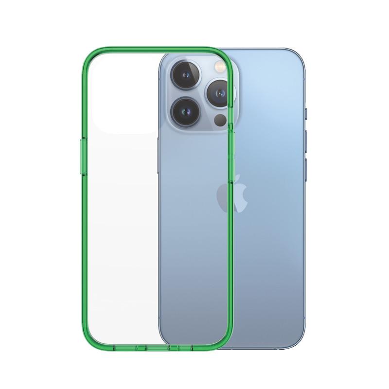 Гръб PanzerGlass за IPhone 13 Pro, ClearCase - Зелена рамка