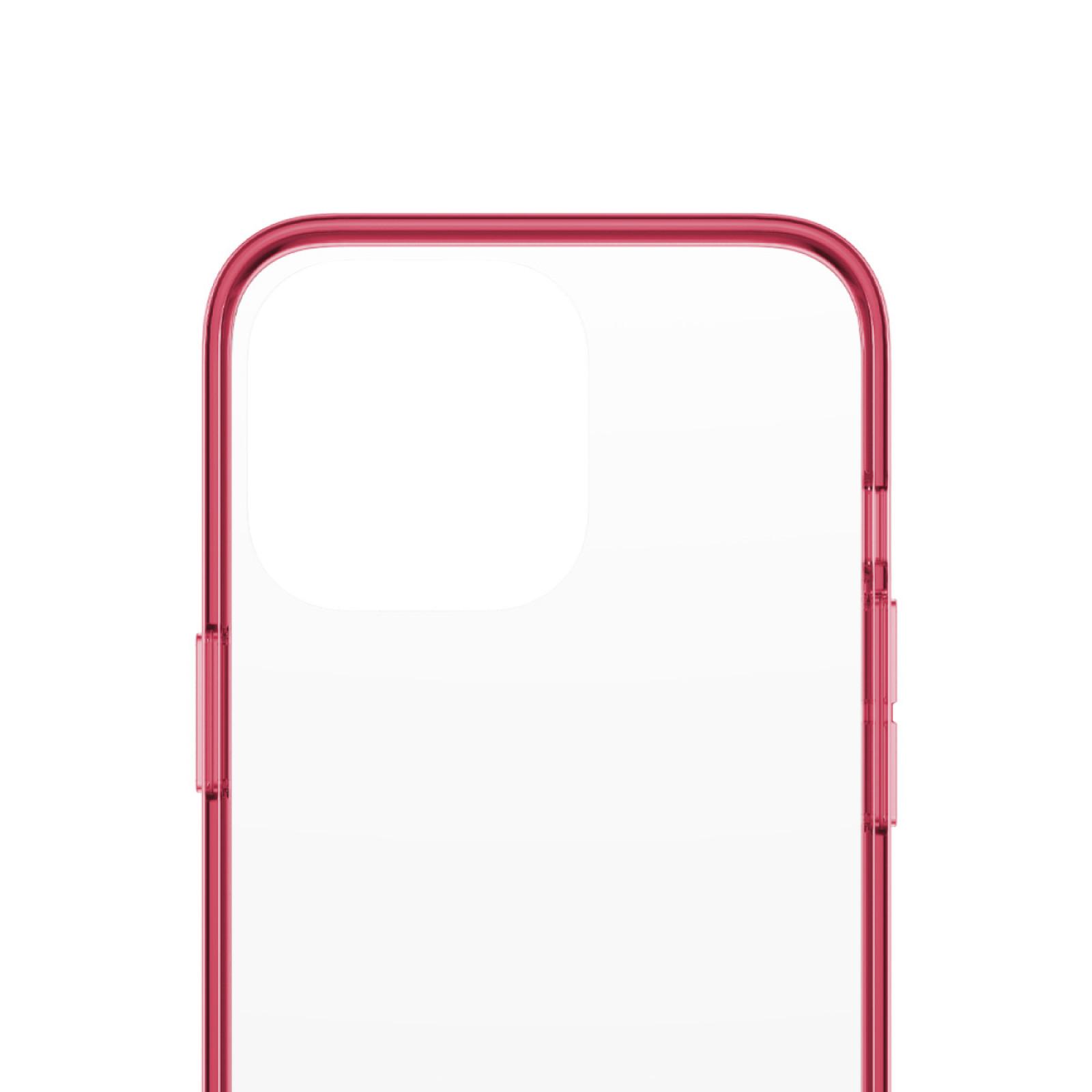 Гръб PanzerGlass за IPhone 13 Pro, ClearCase - Червена рамка