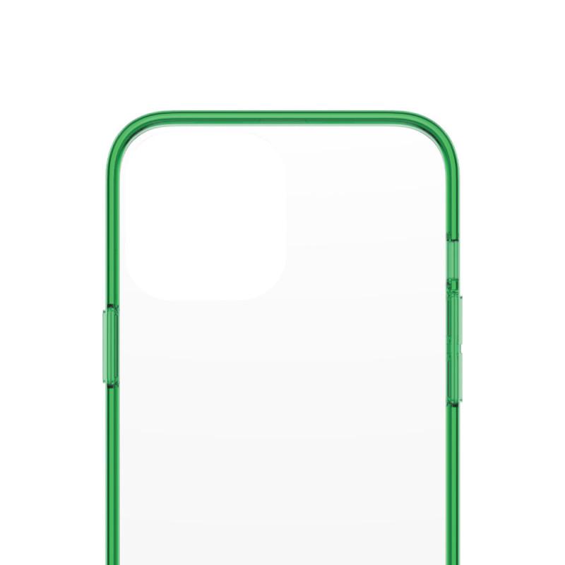Гръб PanzerGlass за IPhone 13 Pro Max, ClearCase - Зелена рамка