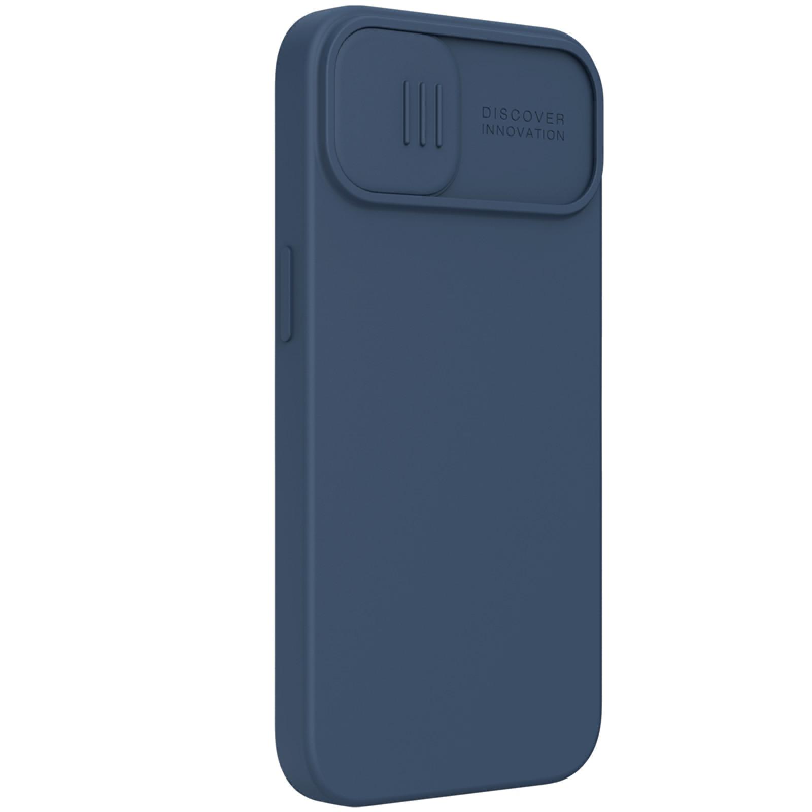 Гръб Nillkin Camshield Silky magnetic silicone case за iphone 13 - Син