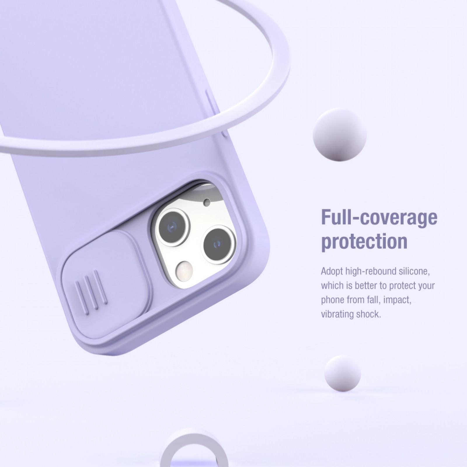 Гръб Nillkin Camshield Silky magnetic silicone case за iphone 13 - Лилав