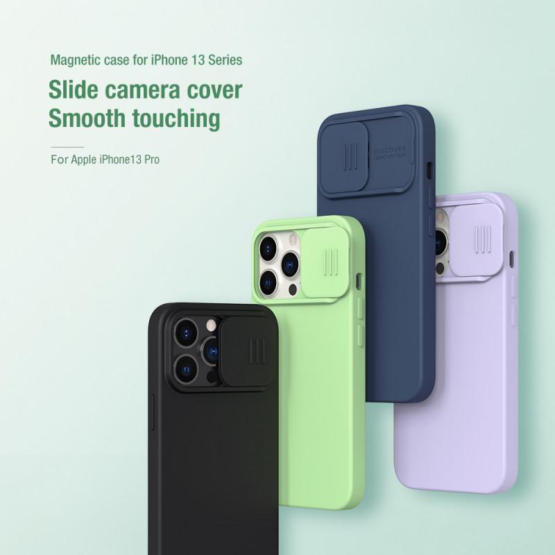 Гръб Nillkin Camshield Silky magnetic silicone case за iphone 13 Pro - Лилав
