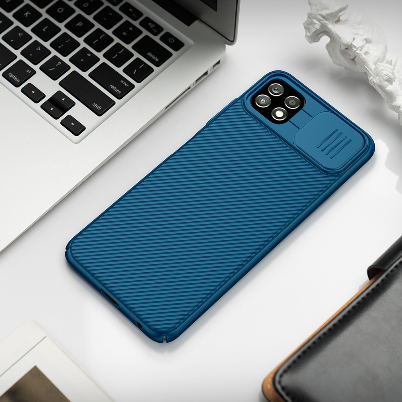 Гръб Nillkin Camshield series за Samsung Galaxy A22 5G - Син