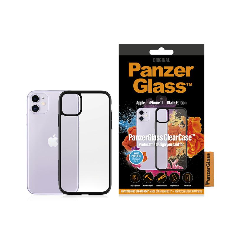 Гръб PanzerGlass за IPhone 11 6.1 ClearCase - Черн...