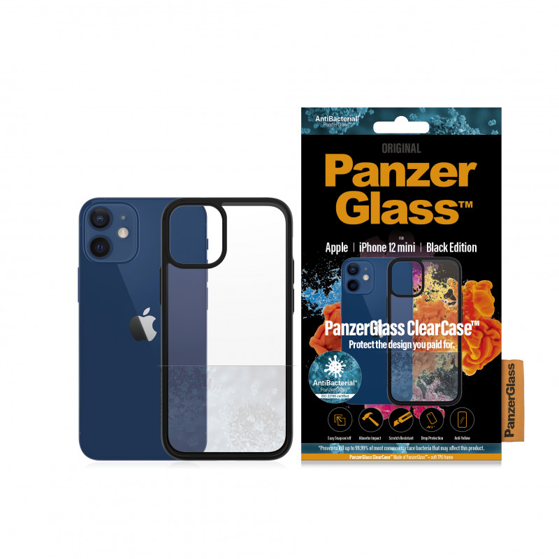 "Гръб PanzerGlass за IPhone 12 mini 5.4"" - Чер..."