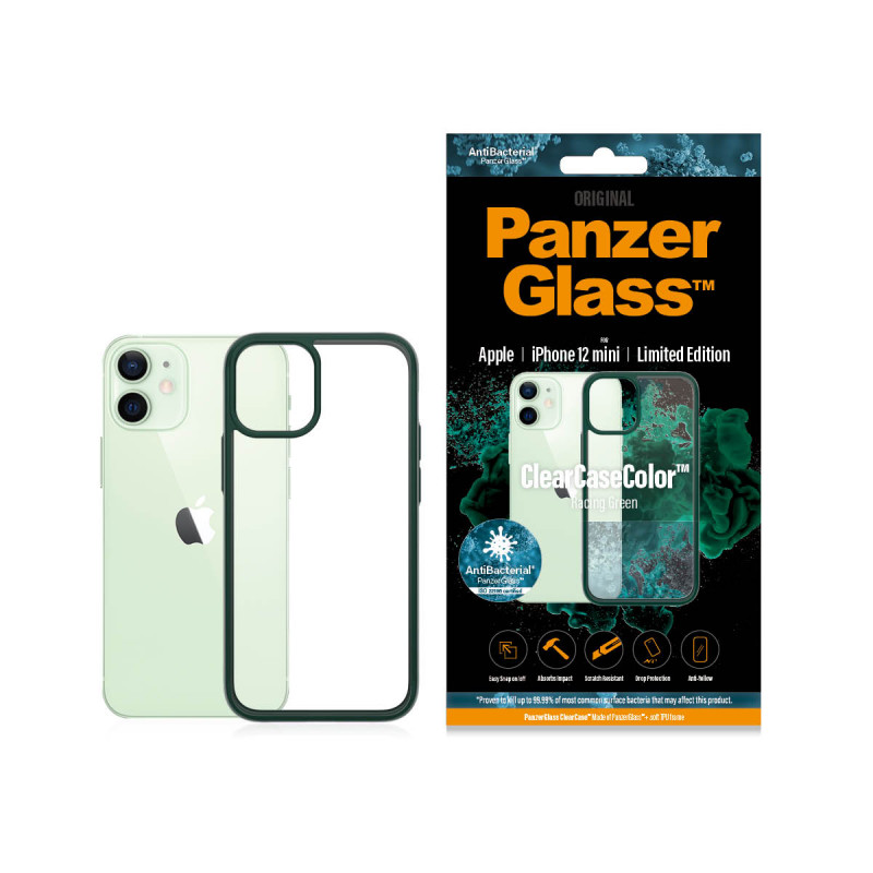 Гръб PanzerGlass за IPhone 12 mini, ClearCase - Зе...