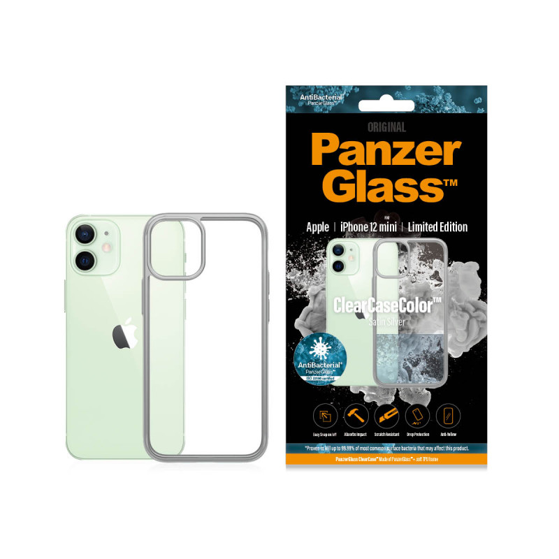 Гръб PanzerGlass за IPhone 12 mini, ClearCase - Си...