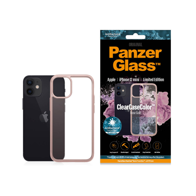 Гръб PanzerGlass за IPhone 12 mini, ClearCase - Ro...