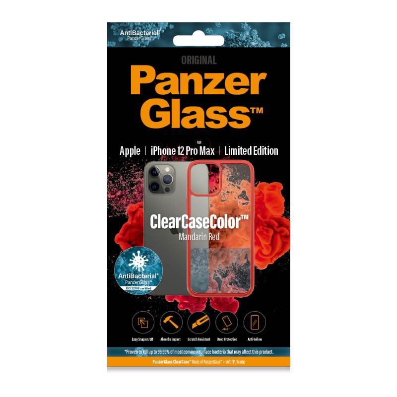 Гръб PanzerGlass за IPhone 12 Pro Max, ClearCase - Червена рамка