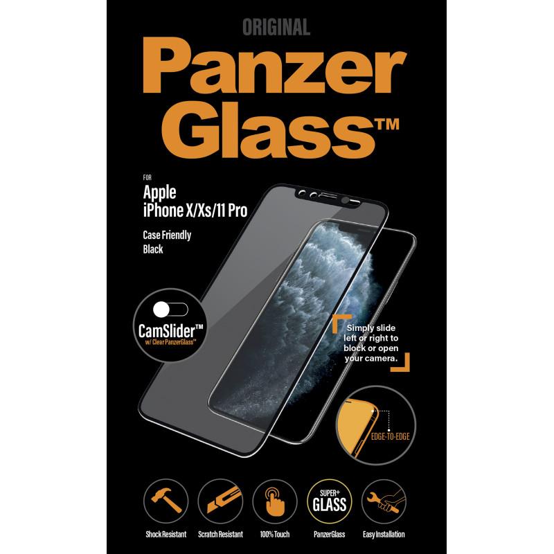 Стъклен протектор PanzerGlass за Apple iPhone X/Xs/11 Pro Case Friendly CamSlider Черен