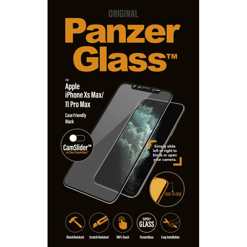 Стъклен протектор PanzerGlass за Apple iPhone Xs Max/11 Pro Max Case Friendly CamSlider Черен