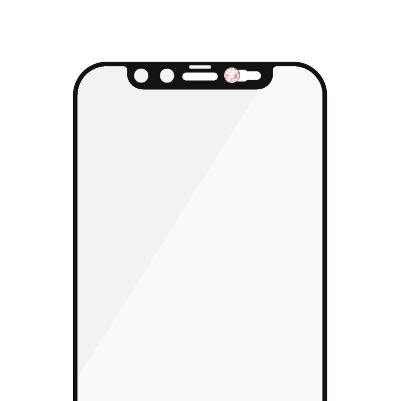 Стъклен протектор PanzerGlass за Iphone 12 mini, CaseFriendly, CamSlaider, Swarovski Rose Edition