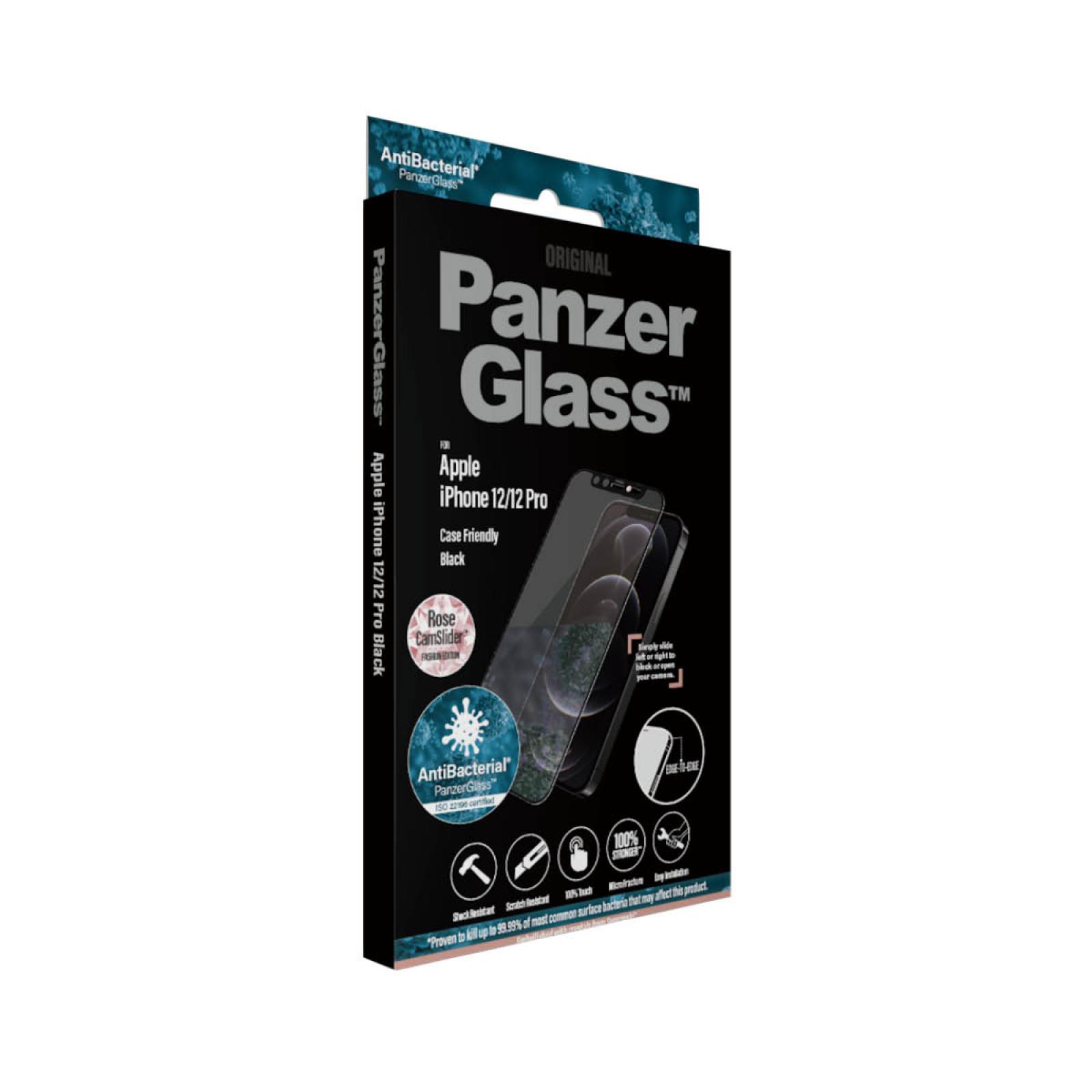 Стъклен протектор PanzerGlass за Iphone 12 /12 Pro, CaseFriendly, CamSlaider, Swarovski Rose Edition