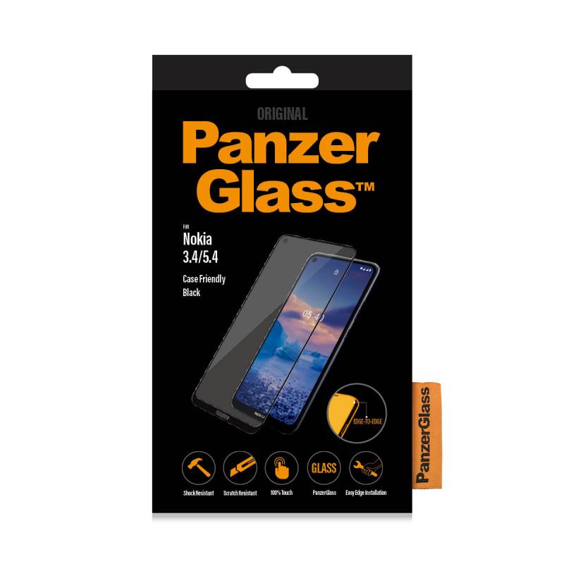 Стъклен протектор за Nokia 3.4/5.4 PanzerGlass CaseFriendly - Черен