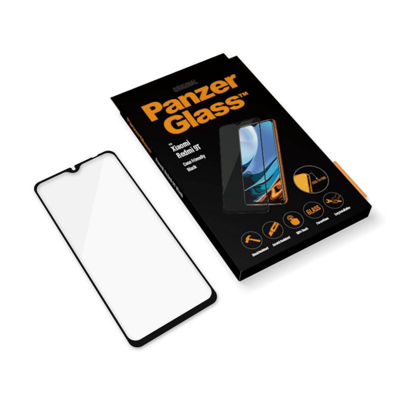 Стъклен протектор PanzerGlass за Xiaomi Redmi  9T  Case Friendly Черен