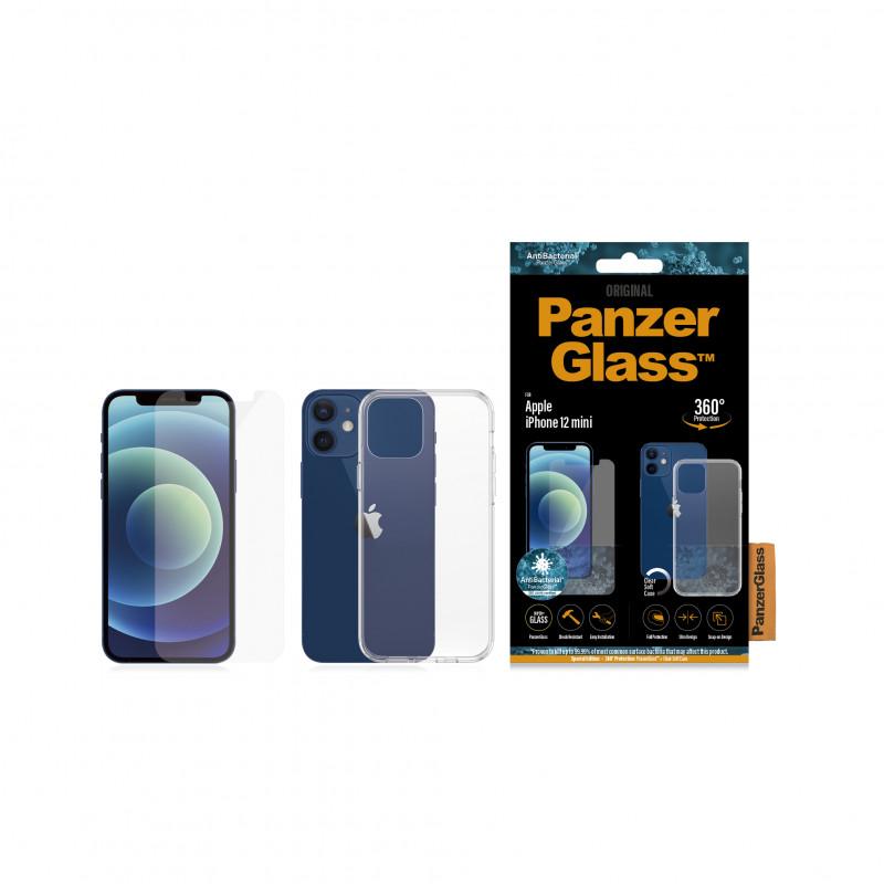 Стъклен протектор + Гръб Iphone 12 mini PanzerGlas...