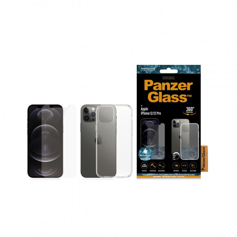 Стъклен протектор + Гръб Iphone 12 / 12  Pro Panze...