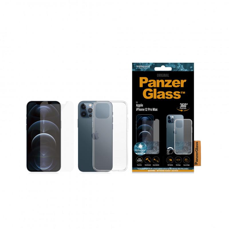 Стъклен протектор + Гръб Iphone 12  Pro Max Panzer...
