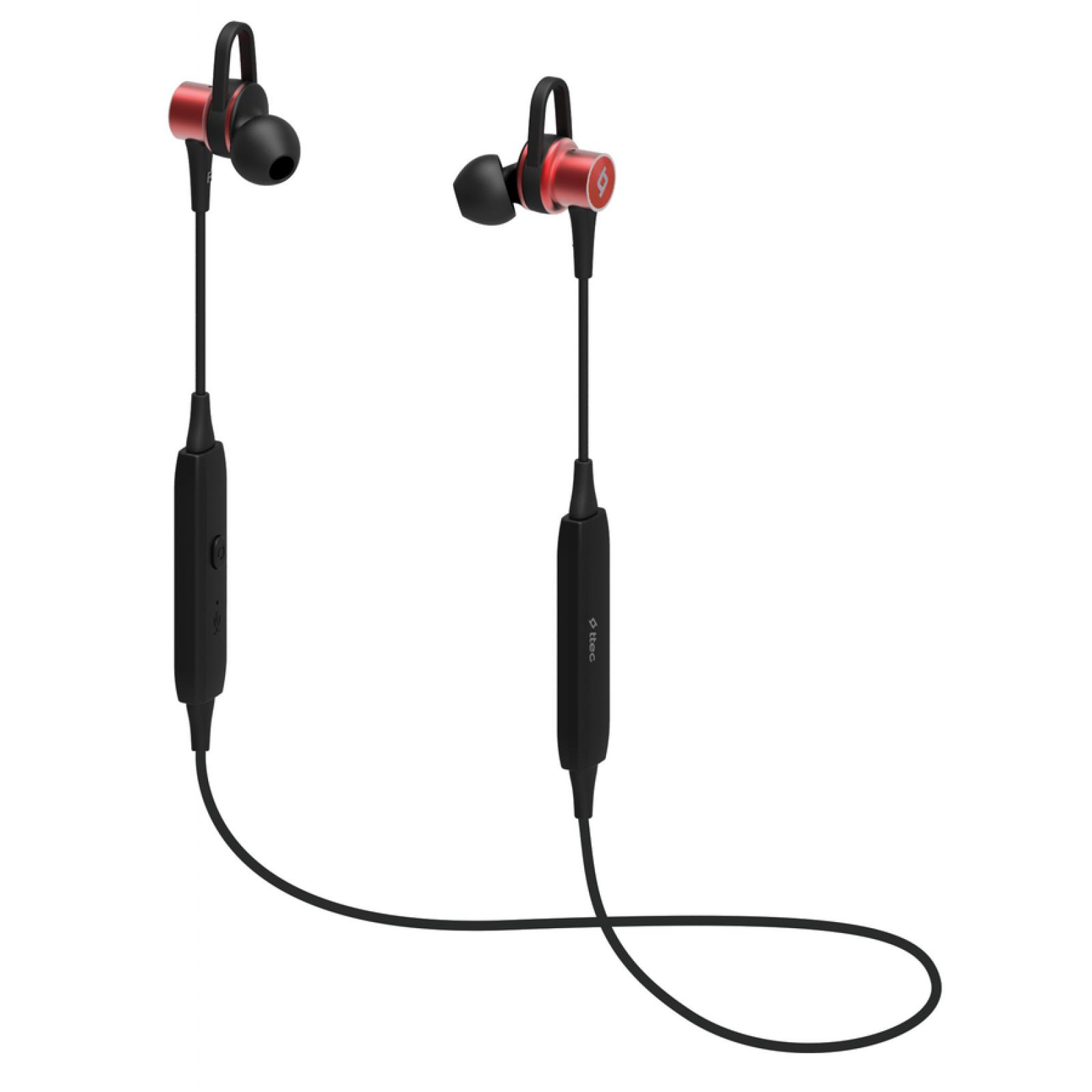 Bluetooth слушалки Soundbeat Pro Wireless BT Stereo Headset magnets - Червени,116261