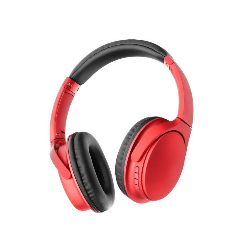 Bluetooth слушалки stereo earphones MS-K10 - Черве...