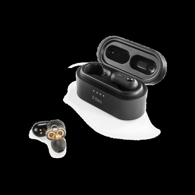Bluetooth слушалки ttec AirBeat Duo True Wireless Headsets- Черни,116798