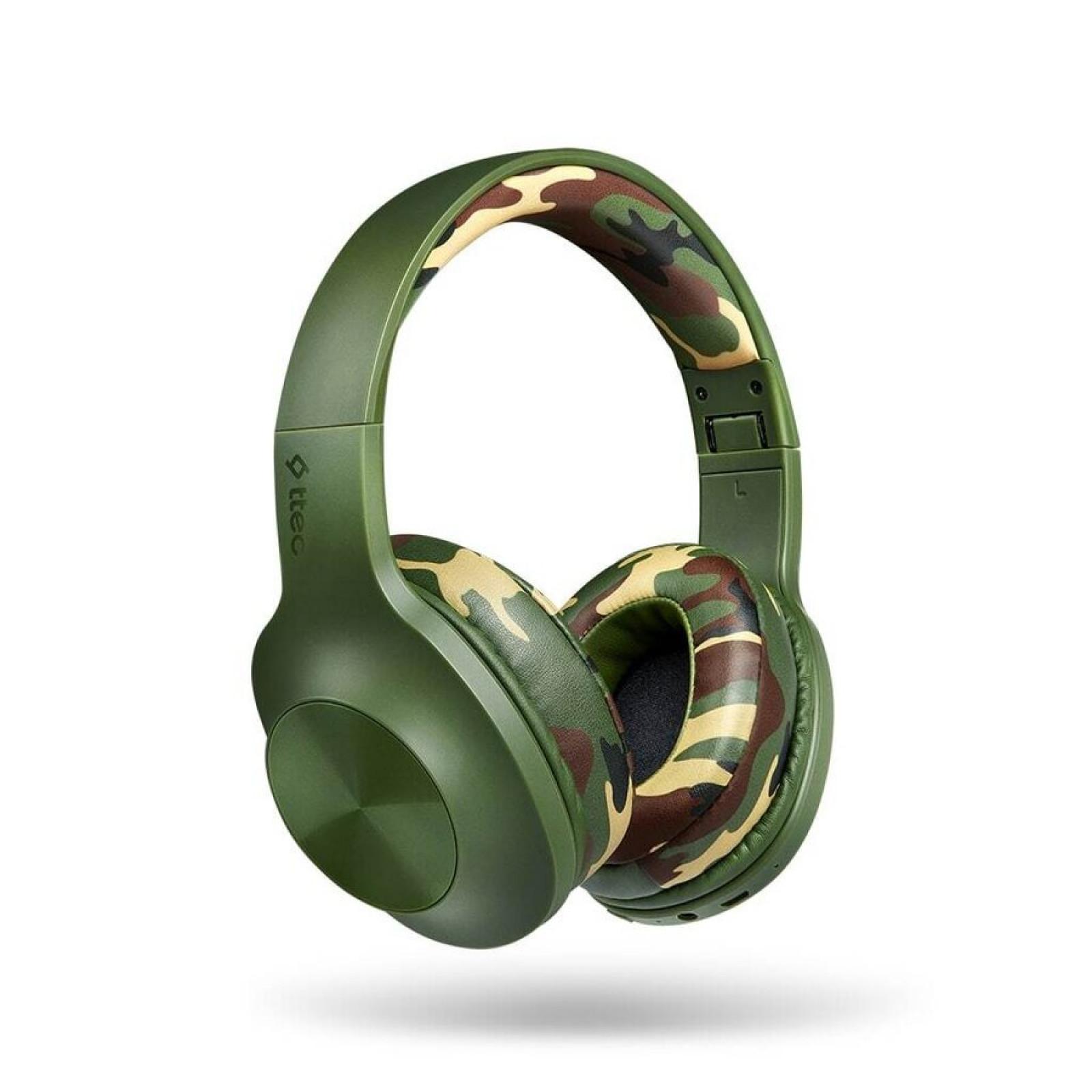 Bluetooth Слушалки ttec SoundMax 2 Wireless BT Stereo Headset - Green Camouflage, 117954