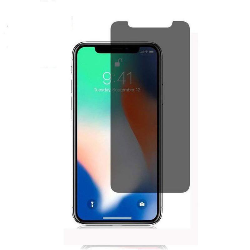 Стъклен протектор Anti spy 5D за iPhoneXS MAX Чере...