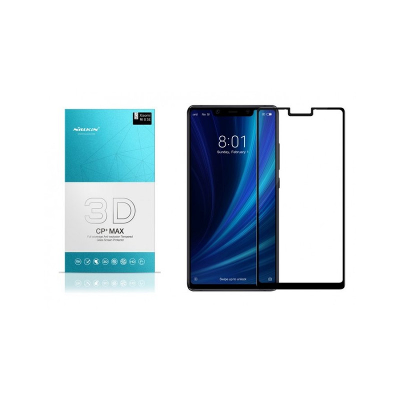 Стъклен протектор Nillkin за Xiaomi Mi 8 SE 3D CP+...