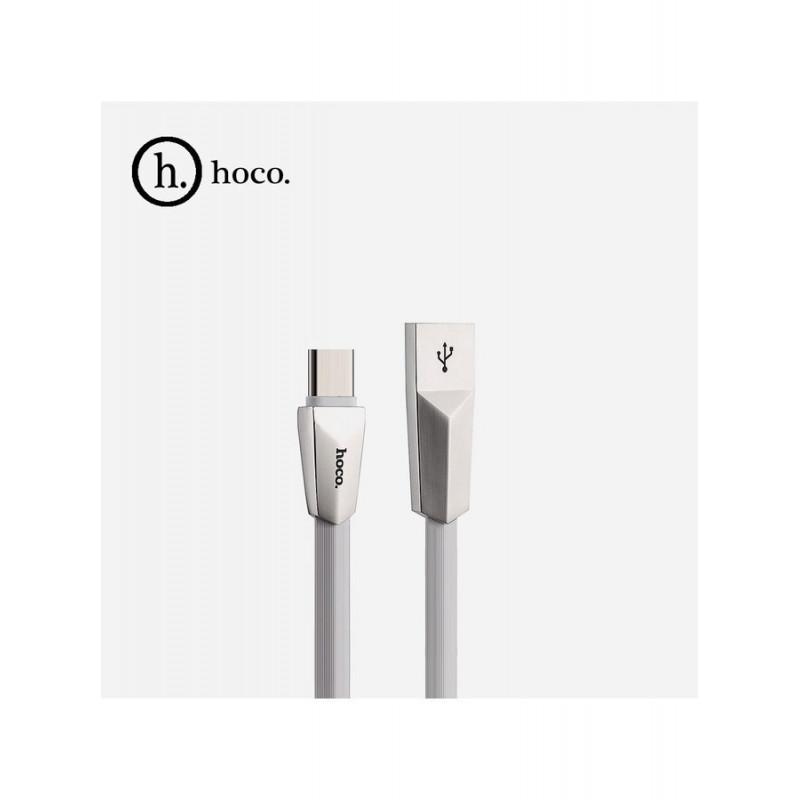 Data кабел Hoco X4 Zinc Alloy rhombus type-c USB C...