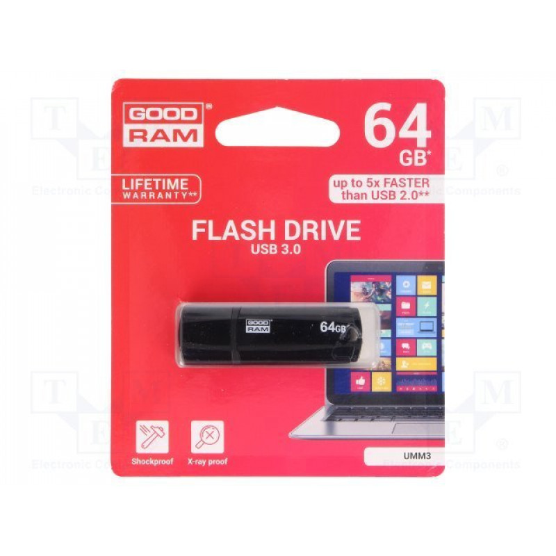Флашка GOODRAM UMM3 Pendrive - 64GB USB 3.0