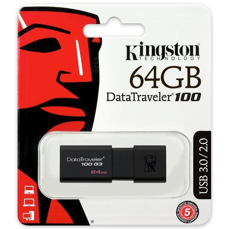 Флашка Kingston DT100G3/64GB Черна