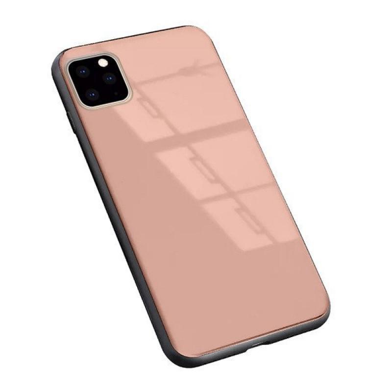 """Гръб GLASS за Iphone 11 Pro 5,8"""" - Розов..."""