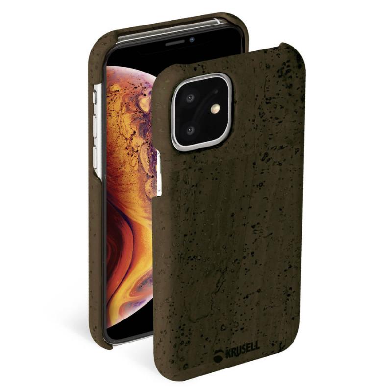 Гръб Krusell Birka Cover за Iphone 11 - Тъмно - Ка...