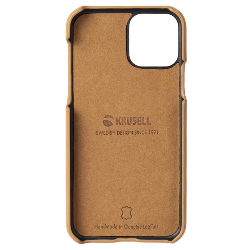 Гръб Krusell Sunne CardCover естествена кожа за Iphone 11 Pro Vintage - Nude